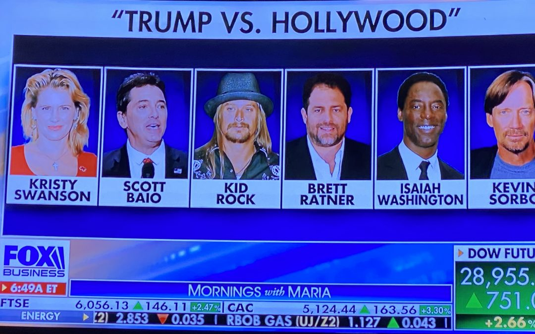 Fox News: Trump vs Hollywood Stars